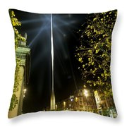 Buildings Lit Up At Night, Oconnell Throw Pillow