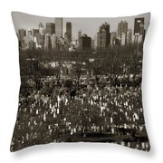 Buildings Throw Pillow
