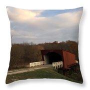 Built In 1883 Roseman Bridge Throw Pillow