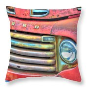Built Like A Rock Series 01 Throw Pillow