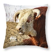 Bull It Is What It Is Throw Pillow
