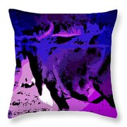 Bull On The Move Throw Pillow