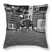Bull Rider Throw Pillow