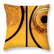 Bulldozer Duo Throw Pillow