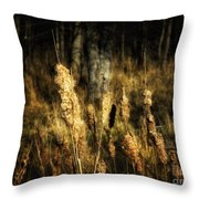Bullrushes To Seed Throw Pillow