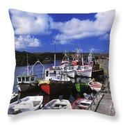 Bunbeg, Donegal, Ireland Harbour Of A Throw Pillow