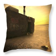Bunkeruntergang  Throw Pillow