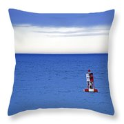 Buoy Off Bass Harbor Head Throw Pillow