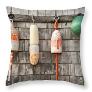 Buoy Shed Throw Pillow