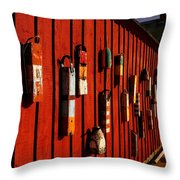 Rockport Buoy Wall - Greeting Card Throw Pillow