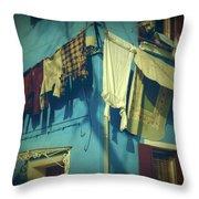Burano - Laundry Throw Pillow by Joana Kruse