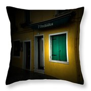 Burano Flower Shop Throw Pillow