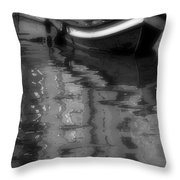 Burano Reflections Bw Throw Pillow