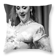 Burlesque Beauty Throw Pillow