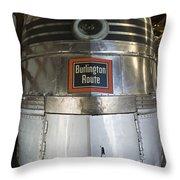Burlington Route E-5a Nose Throw Pillow