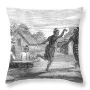 Burma: Dance, 1853 Throw Pillow