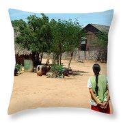 Burma Small Village Throw Pillow