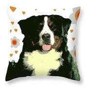 Burmese Mountain Dog Throw Pillow