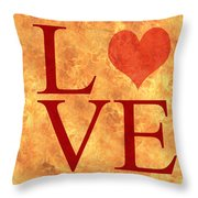 Burning Love Throw Pillow