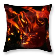Burning Man Throw Pillow