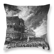 Burning Of Colon, 1885 Throw Pillow