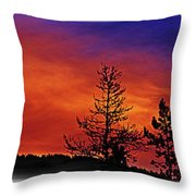 Burning Sunrise Throw Pillow