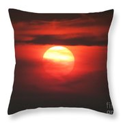 Burning Twilight Throw Pillow