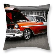 Burnt Orange Chevy Abstract Throw Pillow