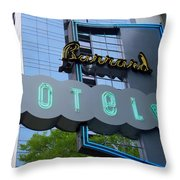 Burrard Hotel 1 Throw Pillow