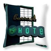 Burrard Hotel 2 Throw Pillow