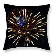 Bursting Out With Color Throw Pillow by Sandi OReilly
