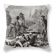 Burying The Dead After John Browns Throw Pillow
