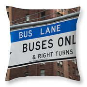 Buses Only I Throw Pillow