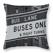 Buses Only II Throw Pillow