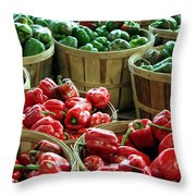 Bushels Of Green And Red Throw Pillow