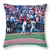 Buster Posey Runs Home Throw Pillow