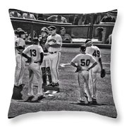 Buster Posey Ryan Theriot Joaquin Arias Hector Sanchez Bruce Bochy Javier Lopez Conor Gillaspie   Throw Pillow