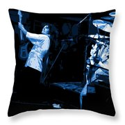 Bustin Out For Blue Winterland Throw Pillow