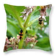 Busy Bodies Throw Pillow