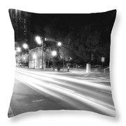Busy Night On Peachtree _ Atlanta Throw Pillow