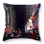 Busy Sidewalks Of The City Throw Pillow