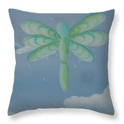 Busy Wings Throw Pillow