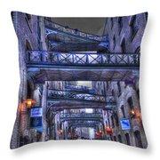 Butlers Wharf London Hdr Throw Pillow