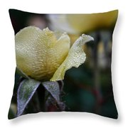 Buttercream Petals Throw Pillow