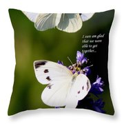 Butterflies - Cabbage White - Enjoyed The Togetherness Throw Pillow