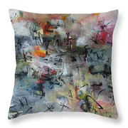 Butterfly And Dragonfly Paintings Throw Pillow