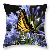 Butterfly Catcher Throw Pillow