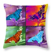 Butterfly Collage Throw Pillow