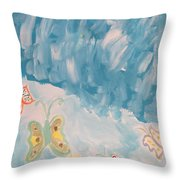Butterfly Flight Throw Pillow
