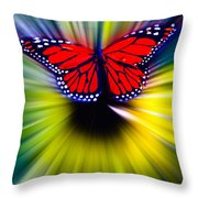 Butterfly Fly Throw Pillow